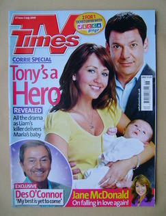 <!--2009-06-27-->TV Times magazine - Samia Smith and Gray O'Brien cover (27