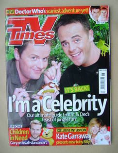 <!--2009-11-14-->TV Times magazine - Ant and Dec cover (14-20 November 2009