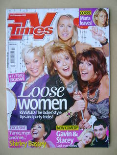 <!--2009-11-21-->TV Times magazine - Loose Women cover (21-27 November 2009