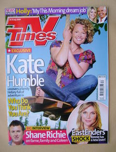 <!--2009-07-25-->TV Times magazine - Kate Humble cover (25-31 July 2009)