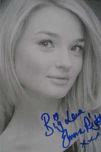 Emma Rigby autograph (Hollyoaks actor)
