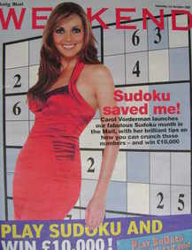 Weekend magazine - Carol Vorderman cover (1 October 2005)