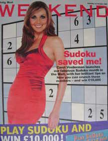 Weekend magazine - Carol Vorderman cover (1 October 2005)
