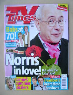 <!--2007-08-04-->TV Times magazine - Malcolm Hebden cover (4-10 August 2007