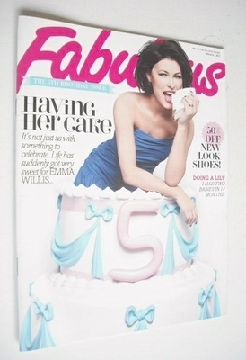 <!--2013-02-03-->Fabulous magazine - Emma Willis cover (3 February 2013)