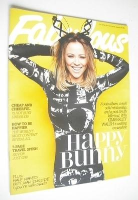 <!--2013-01-20-->Fabulous magazine - Kimberley Walsh cover (20 January 2013