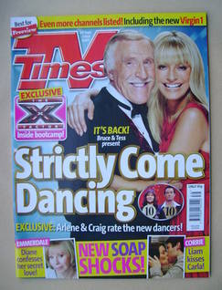 <!--2007-09-29-->TV Times magazine - Bruce Forsyth and Tess Daly cover (29