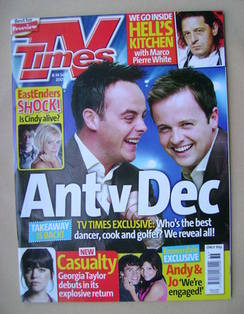 <!--2007-09-08-->TV Times magazine - Ant & Dec cover (8-14 September 2007)