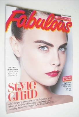 <!--2013-02-17-->Fabulous magazine - Cara Delevingne cover (17 February 201