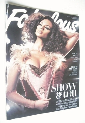 <!--2013-03-31-->Fabulous magazine - Alesha Dixon cover (31 March 2013)