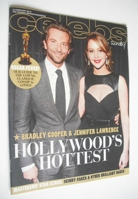<!--2013-02-24-->Celebs magazine - Bradley Cooper and Jennifer Lawrence cov