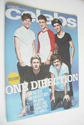 <!--2013-02-17-->Celebs magazine - One Direction cover (17 February 2013)