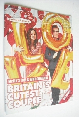 <!--2013-02-10-->Celebs magazine - Tom Fletcher and wife Giovanna cover (10