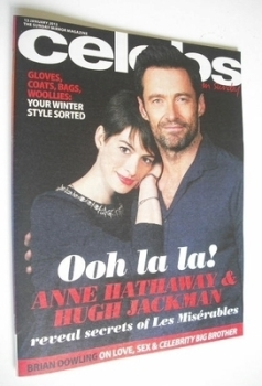 Celebs magazine - Anne Hathaway and Hugh Jackman cover (13 January 2013)