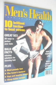 British Men's Health magazine - August/September 1995 - Bill Sanford cover