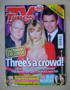 <!--2007-12-01-->TV Times magazine - Steve McFadden, Samantha Janus and Sco