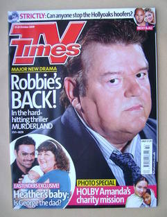 <!--2009-10-17-->TV Times magazine - Robbie Coltrane cover (17-23 October 2