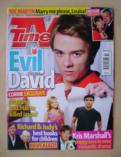 <!--2007-10-20-->TV Times magazine - Jack P Shepherd cover (20-26 October 2
