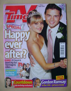 <!--2007-10-27-->TV Times magazine - Tina O'Brien and Ryan Thomas cover (27