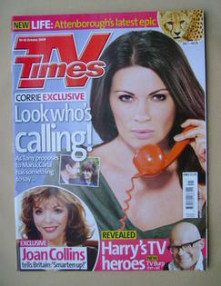 <!--2009-10-10-->TV Times magazine - Alison King cover (10-16 October 2009)