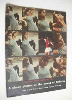 The Sunday Times Colour Section magazine - Jean Shrimpton cover (4 February 1962)