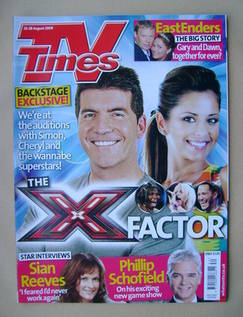 <!--2009-08-22-->TV Times magazine - Simon Cowell and Cheryl Cole cover (22
