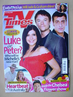 <!--2009-05-16-->TV Times magazine - Kym Marsh, Craig Kelly and Chris Gasco