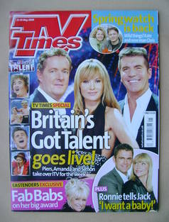 <!--2009-05-23-->TV Times magazine - Piers Morgan, Amanda Holden and Simon