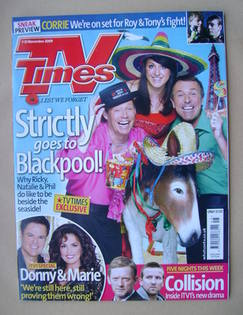 <!--2009-11-07-->TV Times magazine - Strictly goes to Blackpool! cover (7-1