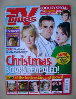 <!--2009-11-28-->TV Times magazine - Sally Whittaker, Michael Le Vell and V
