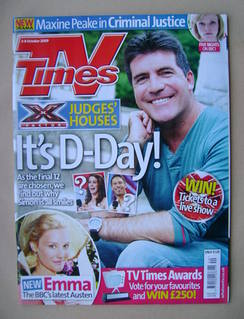 <!--2009-10-03-->TV Times magazine - Simon Cowell cover (3-9 October 2009)