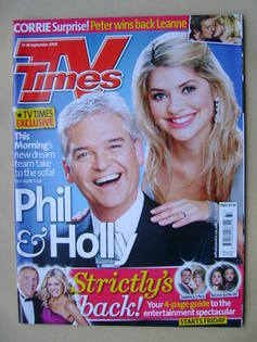 <!--2009-09-12-->TV Times magazine - Phillip Schofield and Holly Willoughby