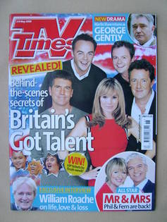 <!--2009-05-02-->TV Times magazine - Britain's Got Talent cover (2-8 May 20