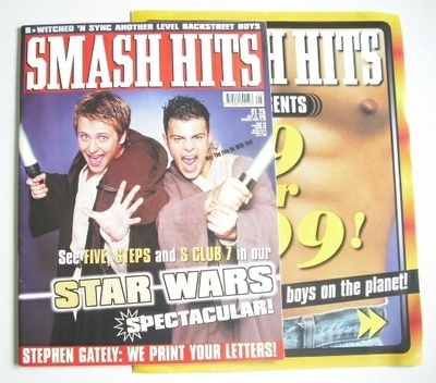 <!--1999-07-14-->Smash Hits magazine - Five cover (14 July 1999)