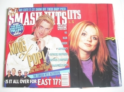 <!--1997-01-15-->Smash Hits magazine - Ronan Keating cover (15-28 January 1