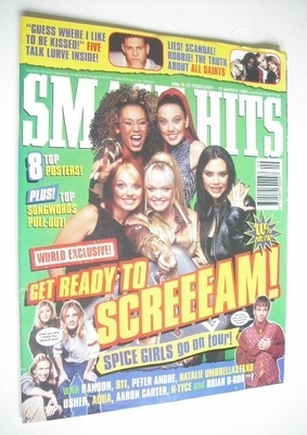 <!--1998-02-25-->Smash Hits magazine - The Spice Girls cover (25 February -