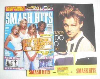 <!--1998-04-08-->Smash Hits magazine - All Saints cover (8-21 April 1998)