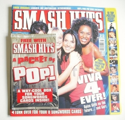 <!--1998-07-01-->Smash Hits magazine - The Spice Girls cover (1 July 1998)