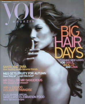 <!--2004-10-17-->You magazine - Gisele Bundchen cover (17 October 2004)