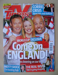 <!--2006-06-10-->TV Times magazine - Ricky Groves, Kellie Shirley and Cliff