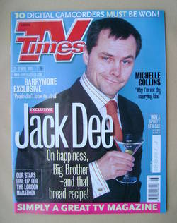 <!--2001-04-21-->TV Times magazine - Jack Dee cover (21-27 April 2001)