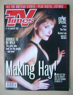 <!--2001-01-13-->TV Times magazine - Anna Brecon cover (13-19 January 2001)