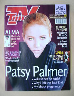 <!--2001-06-16-->TV Times magazine - Patsy Palmer cover (16-22 June 2001)