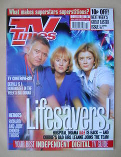 <!--2001-04-07-->TV Times magazine - Martin Shaw, Niamh Cusack and Jane Dan