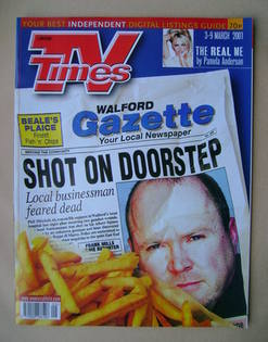 <!--2001-03-03-->TV Times magazine - Steve McFadden cover (3-9 March 2001)