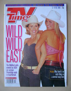 <!--2001-02-03-->TV Times magazine - Lucy Benjamin and Tamzin Outhwaite cov