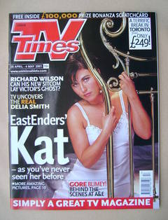 <!--2001-04-28-->TV Times magazine - Jessie Wallace cover (28 April-4 May 2