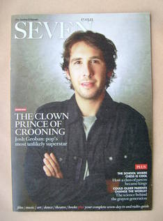 Seven magazine - Josh Groban cover (17 March 2013)