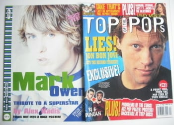 Top Of The Pops magazine - Jon Bon Jovi cover (April 1996)