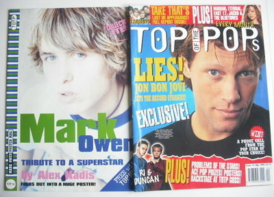 <!--1996-04-->Top Of The Pops magazine - Jon Bon Jovi cover (April 1996)